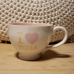 I heart yoga mug yoga is life